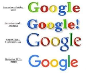 Évolutions du logo Google au fil des années