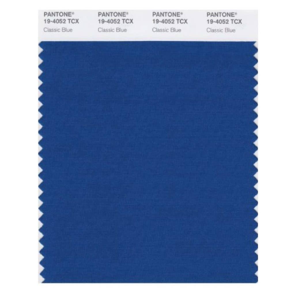 Bleu classique, élue couleur de l'année 2020 par Pantone