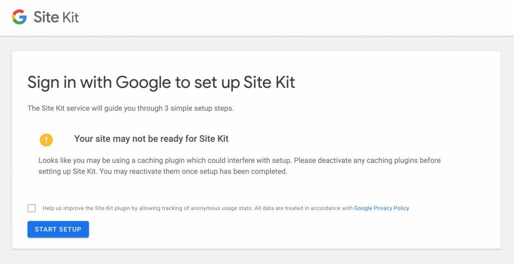 Signb in Google SIte Kit