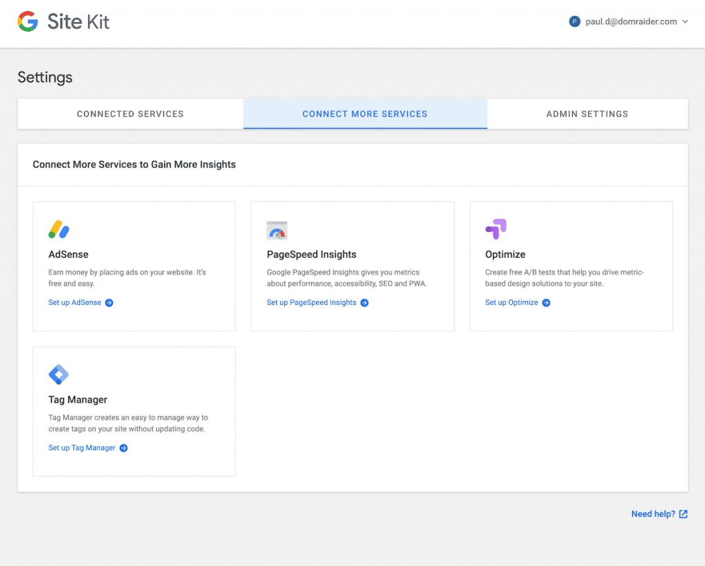 Connecter site kit wordpress
