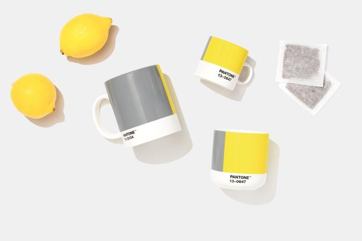 jaune et gris couleurs pantone 2021